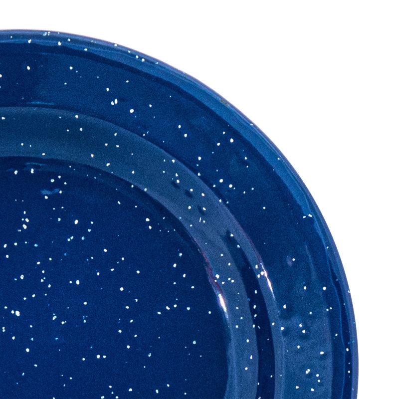 blue speckled detail