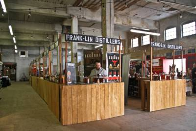Bar and Convention Booth Rental - Wood Industrial