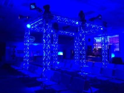 Av Set up & Scaffolding, Spotlights