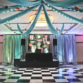 Alice in Wonderland - Dance Floor, Staging, Pipe & Drape