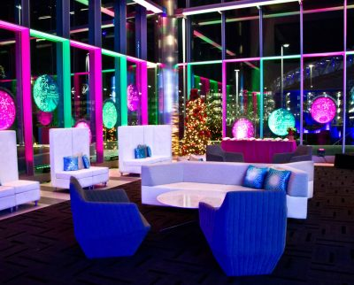 Av Lighting and Lounge Area - Christmas at Intel