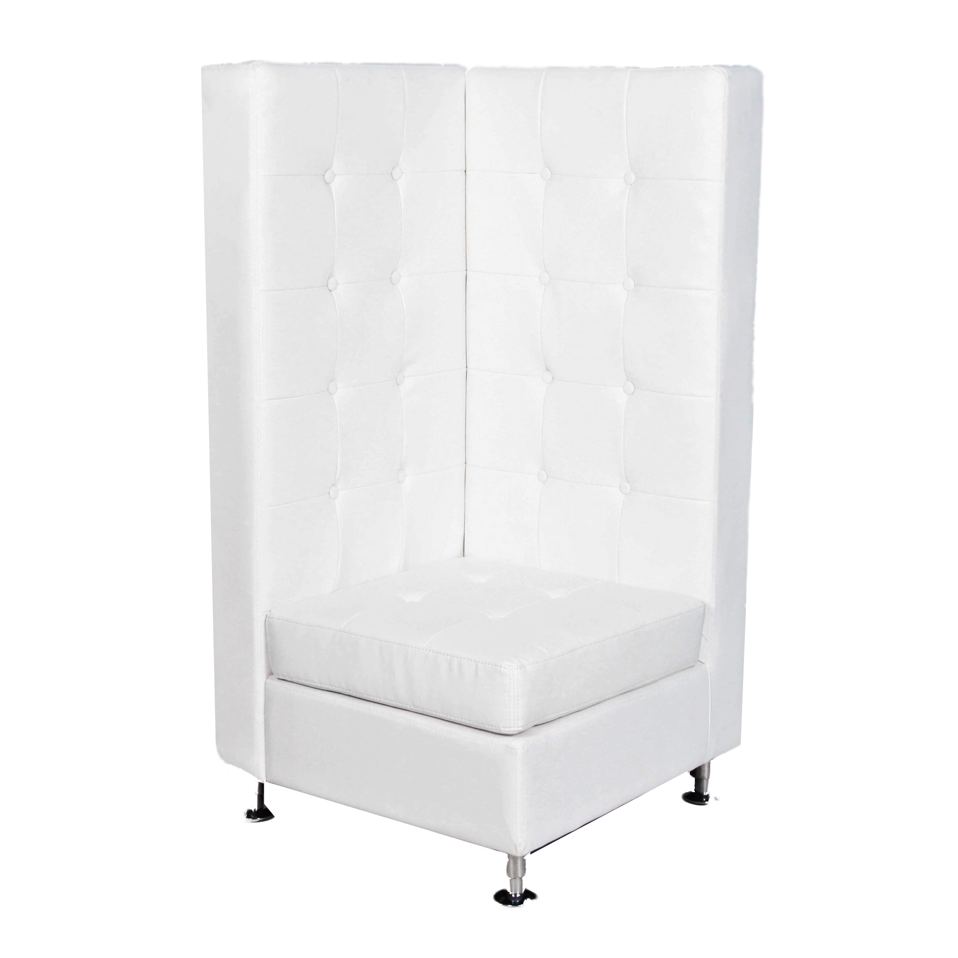 White Leather Tufted Chair