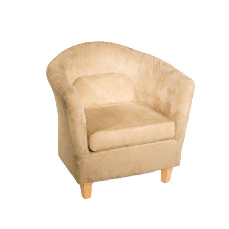 Sage Suede Barrel Chair