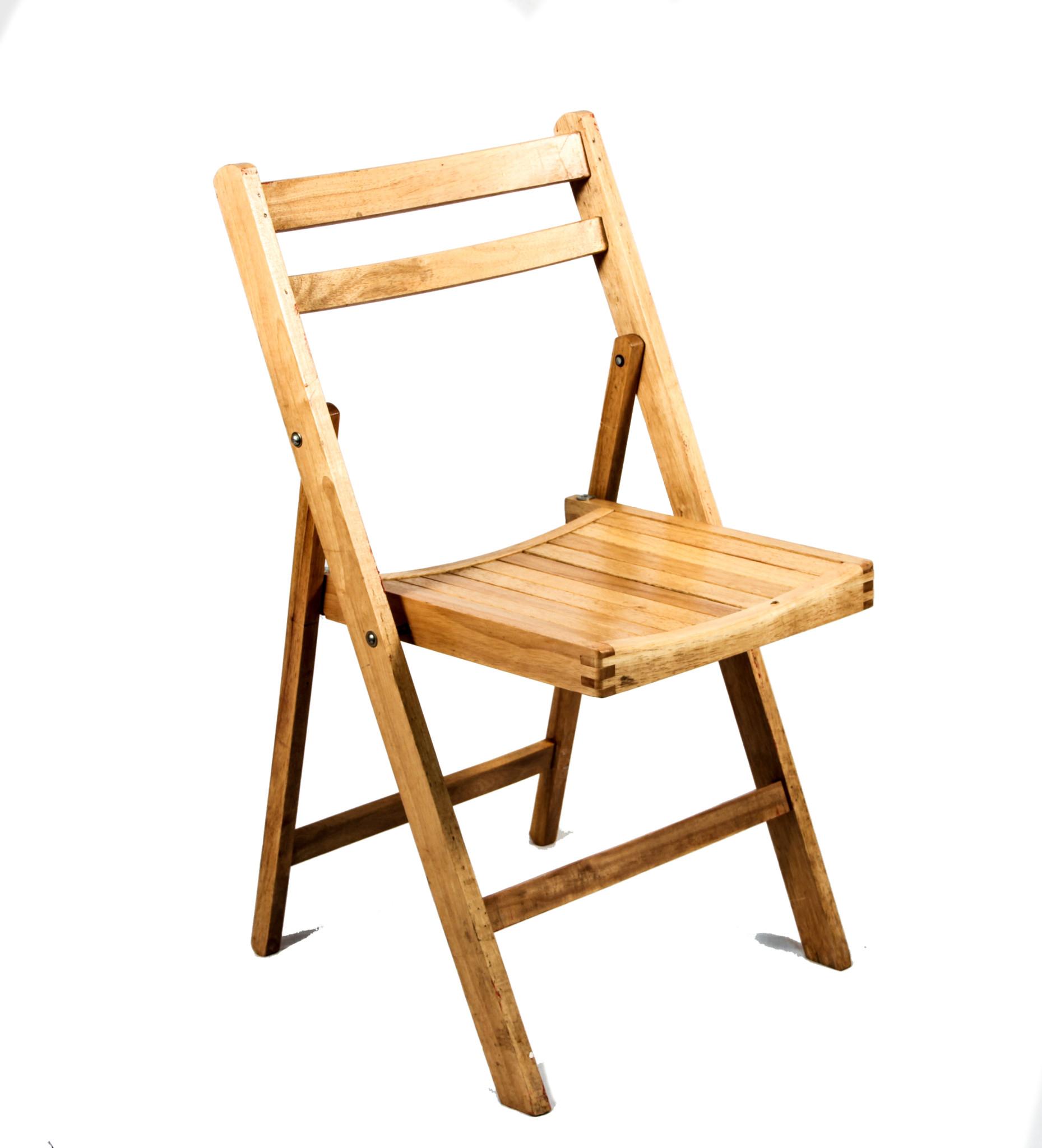 Pine Wood Folding Chair
