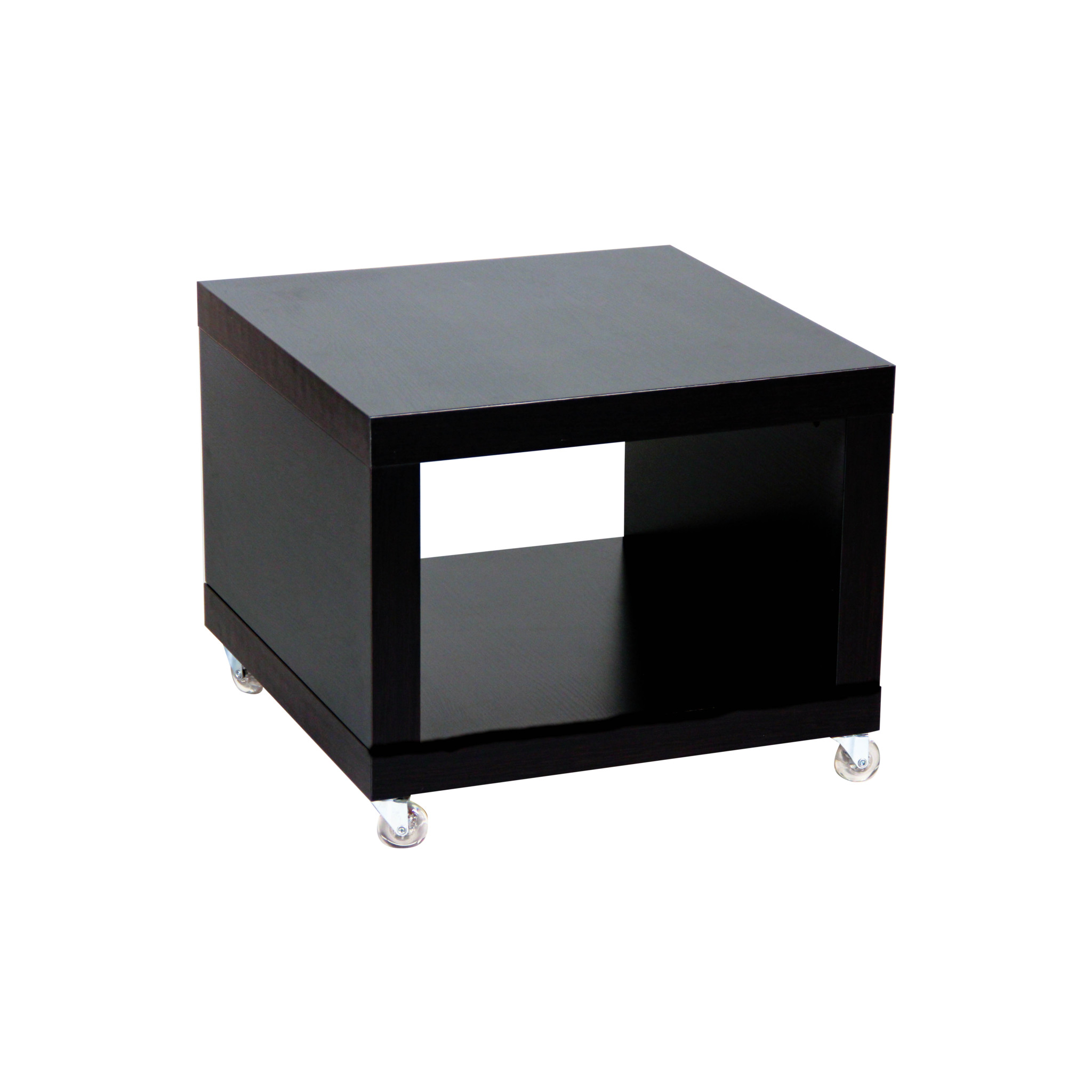 Black Cube Coffee Table With Wheels