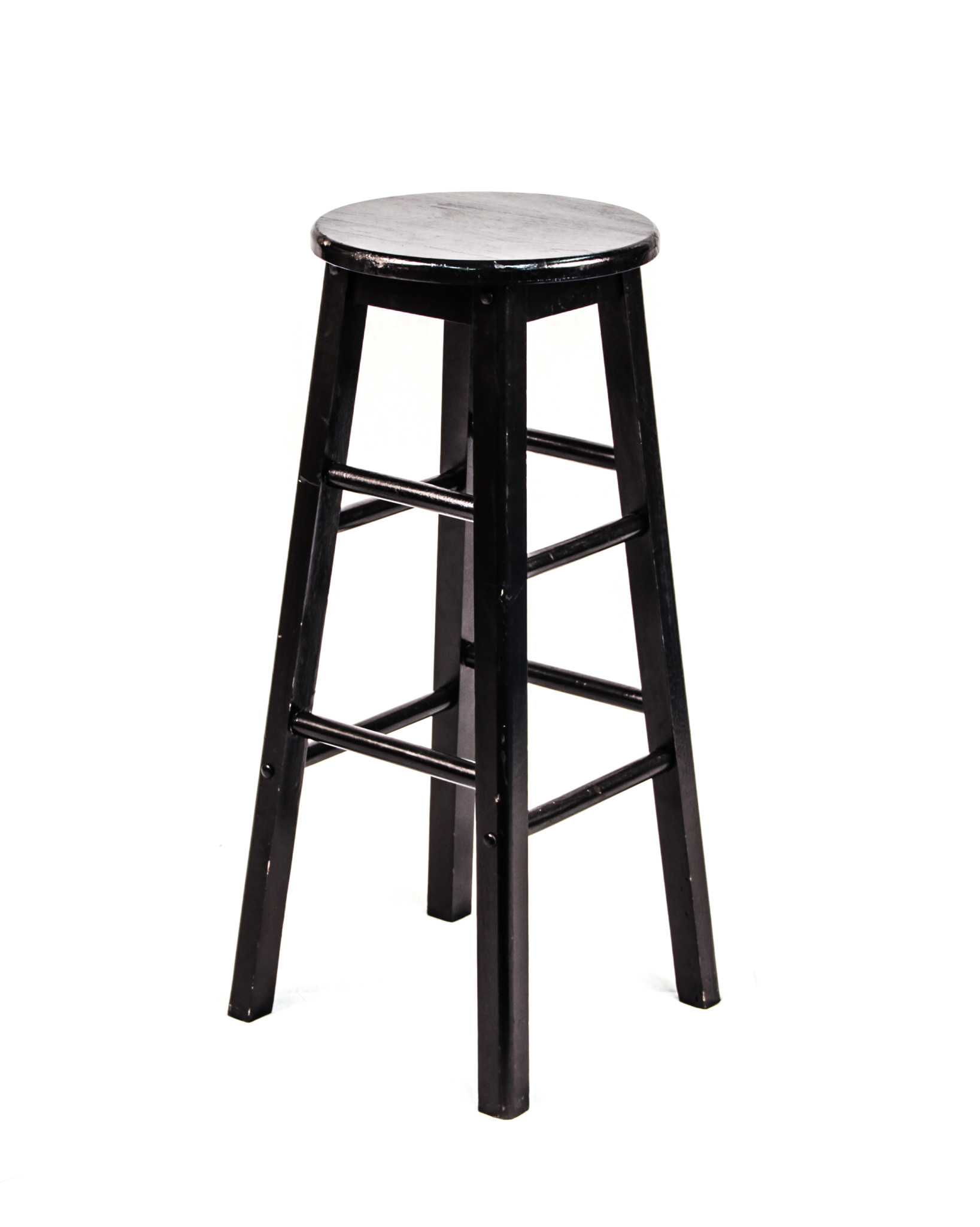 Groovy Wood Spindle Bar Stool Without Back Black Peter Corvallis Evergreenethics Interior Chair Design Evergreenethicsorg