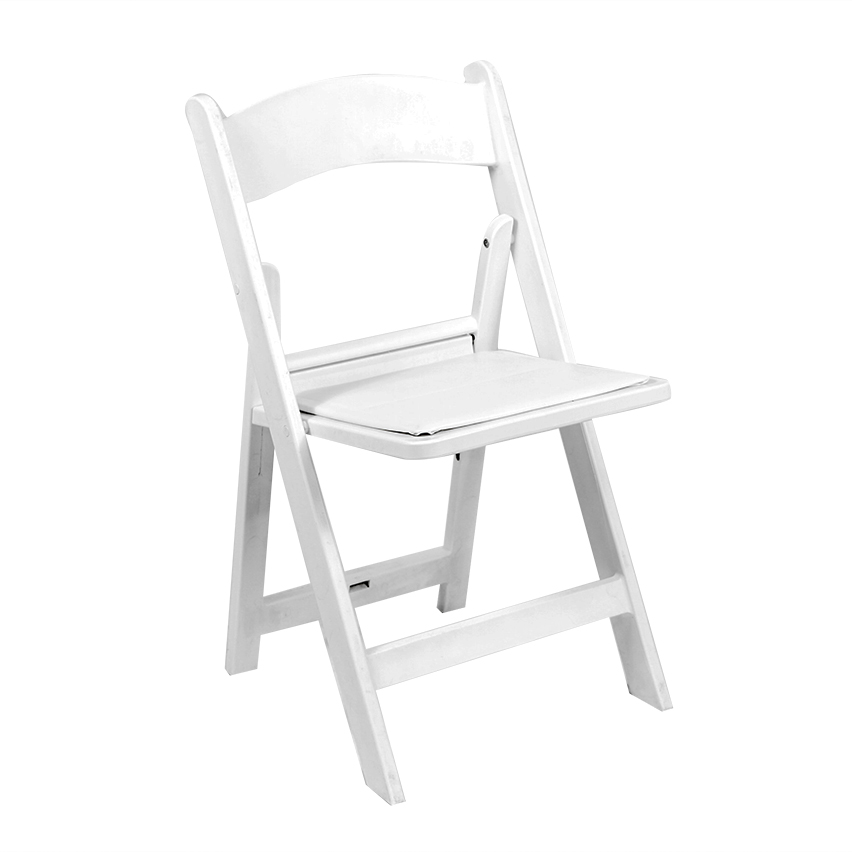 Astonishing White Resin Folding Chair With Padded Seat Peter Corvallis Squirreltailoven Fun Painted Chair Ideas Images Squirreltailovenorg