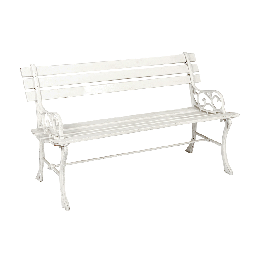 Pleasing Park Bench White Wood White Iron 1 2 Back Peter Andrewgaddart Wooden Chair Designs For Living Room Andrewgaddartcom