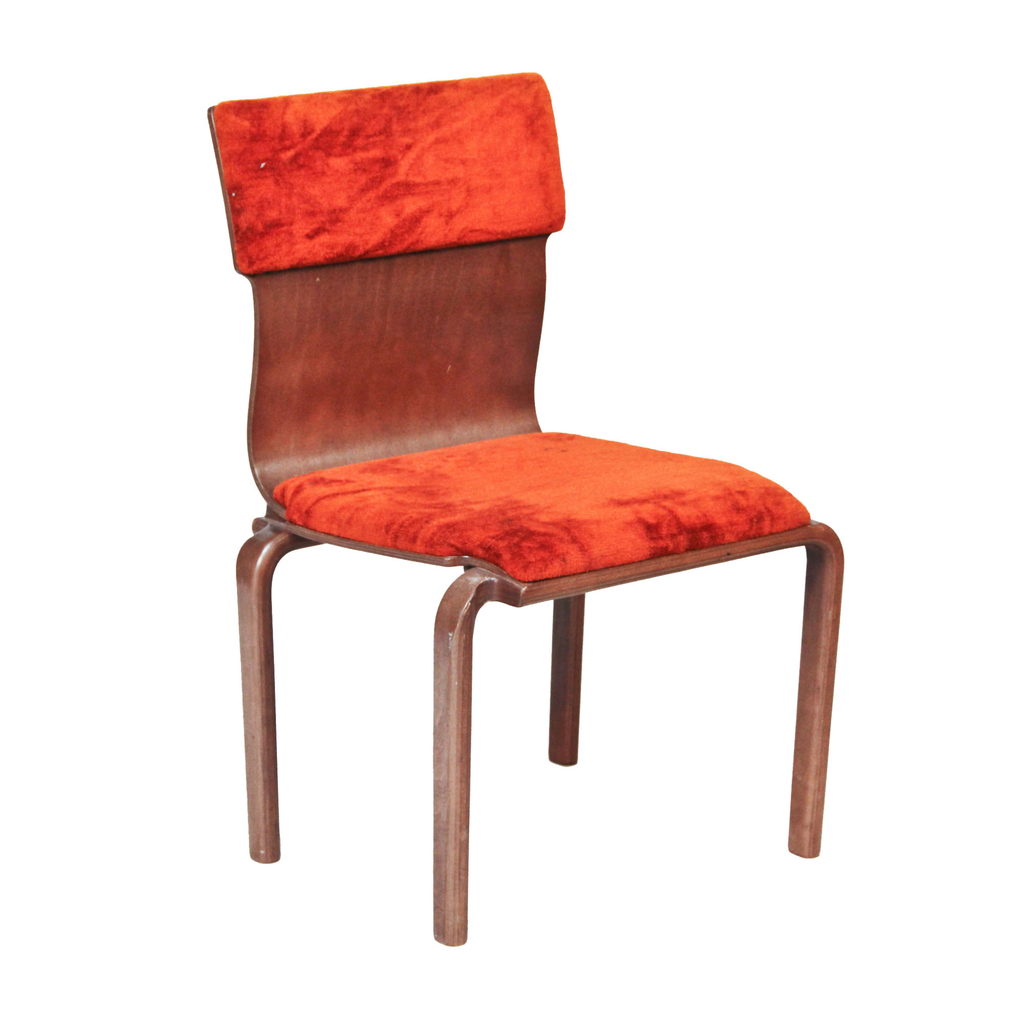 Picture of: Sleigh Back Orange Velvet Accent Chair Peter Corvallis Productions Party Wedding Rentals Portland Rental Decor Portland