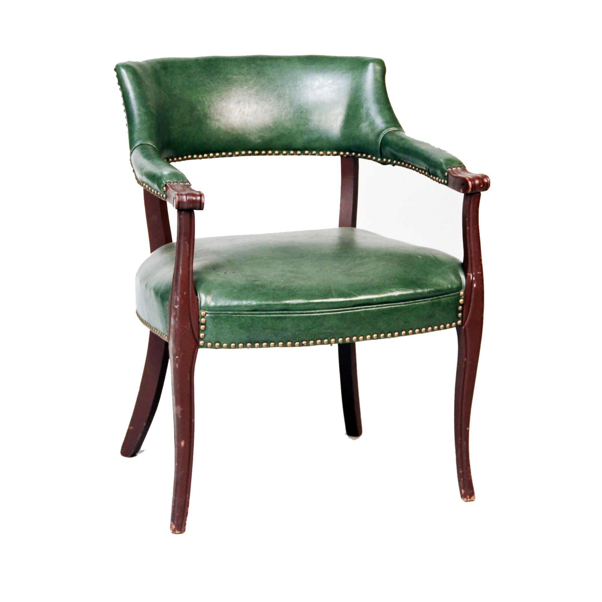 Peachy Green Leather Barrel Accent Chair Peter Corvallis Uwap Interior Chair Design Uwaporg