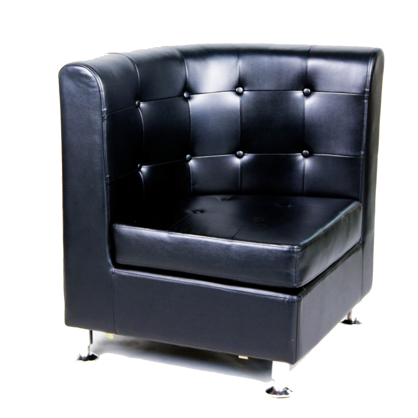 Rounded Black Tufted Chairs Corner Seat Peter Corvallis