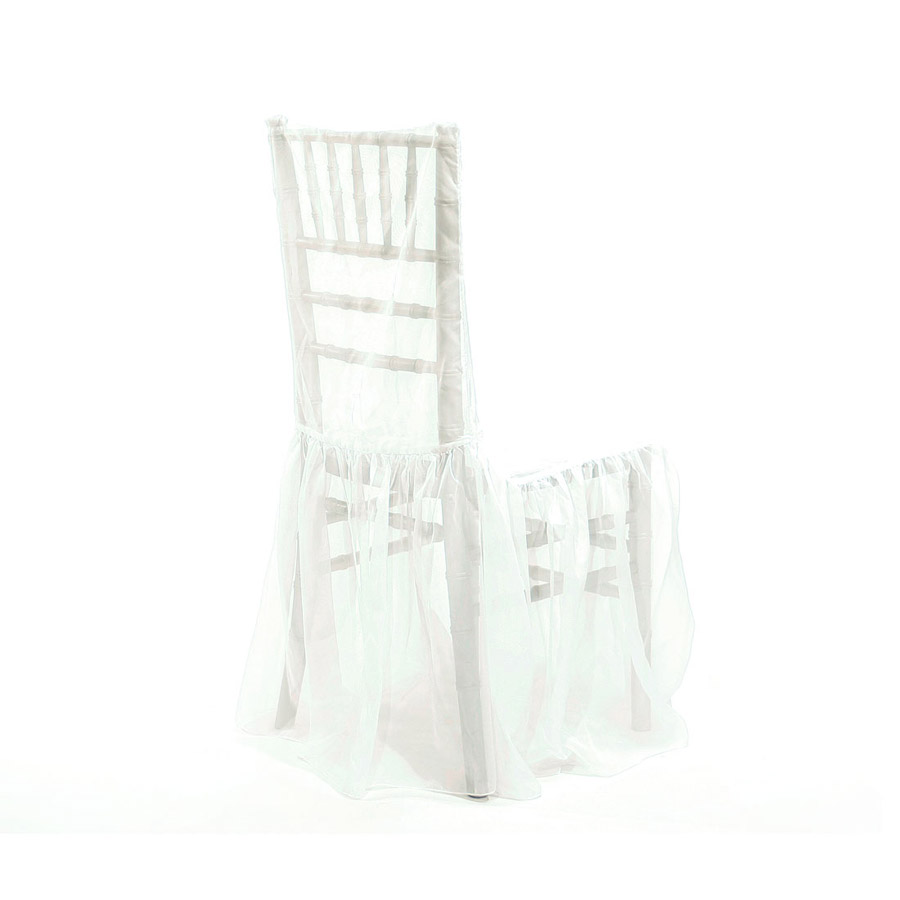 White Chiffon Chiavari Chair Cover