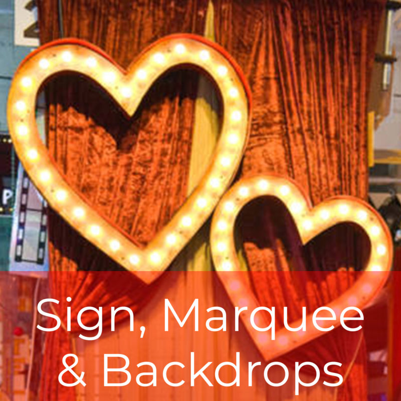 Signs, Backdrops & Marquees